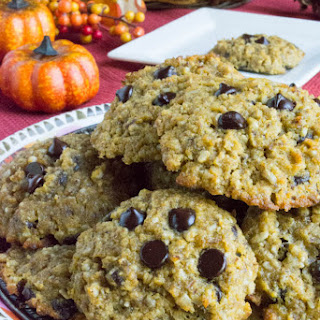 Sugar Free Pumpkin Chocolate Chip Cookies {Grain Free and Low Carb}.