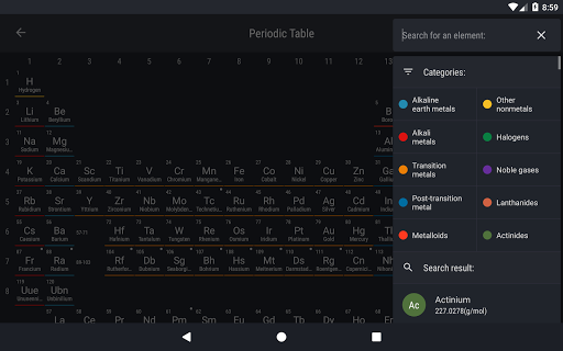 Periodic table 2018 apk download apkpure periodic table 2018 screenshot 13 urtaz Images