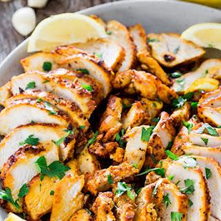 Easy Oven Roasted Chicken Shawarma.