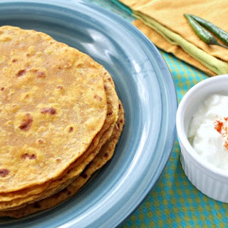 Sweet Potato Parathas (Pan Fried Indian Flat Bread).
