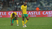 Tokelo Rantie of South Africa dejected during the World Cup qualifier match between Bafana Bafana and Cape Verde in September 2017. The former Orlando Pirates' striker looks set to walk away from football at prime age of 28.