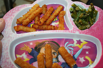 Photo: My daughter wanted me to take a picture of her plate too!
