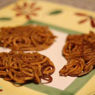Spiralized Sweet Potato Latkes (Gluten Free).