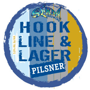 Logo of Serda Brewing Hook, Line, and Lager