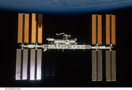 Fly around view of the ISS by the STS-127 crew
