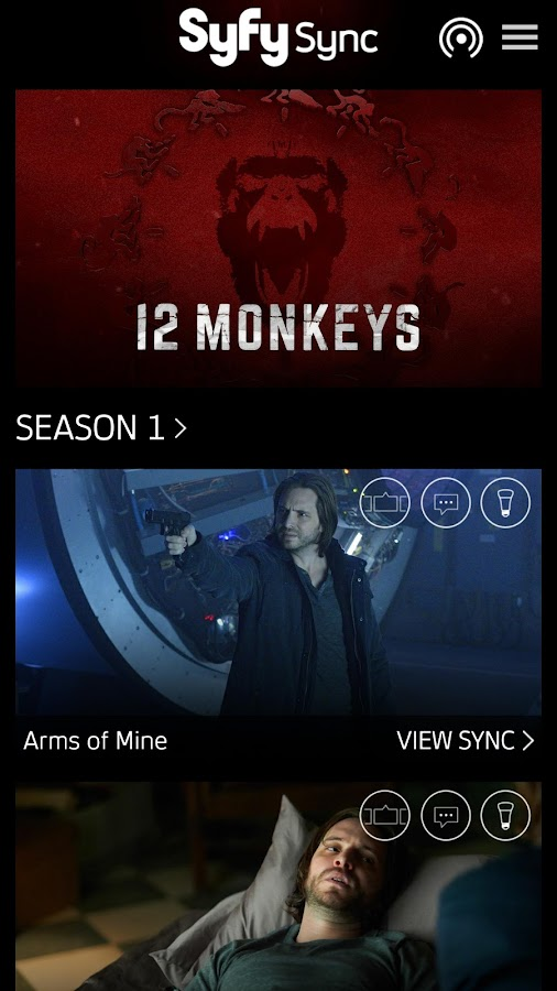 Syfy Sync- screenshot
