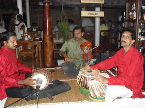 Photo: Local musicians in the restaurant
