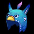 青いトリのあたまフードA