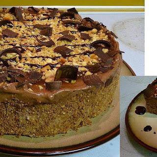 Vegan Chocolate Peanut Butter Swirl Ice Cream Cake With Chocolate Peanut Butter Agave Sauce