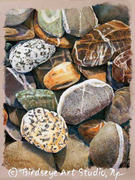 Photo: Port Williams (Sequim, WA) Beach Rocks Superior quality reproductions on paper or canvas offered by Birdseye Art Studio at www.birdseyeartstudio.com