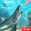Hungry Shark Attack Game 3D icon