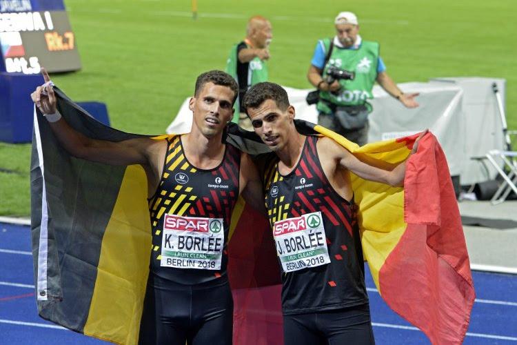 Kevin en Jonathan Borlée sprinten naar een medaille op het EK in Glasgow