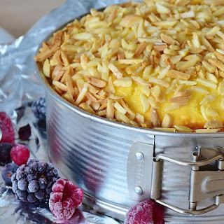Baked Vanilla Cheesecake.
