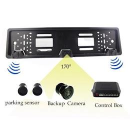 Set suport numar auto cu camera video marsarier si senzori parcare
