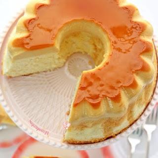 Leche Flan Caramel Custard Chiffon Cake.