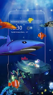 3D Ocean Aquarium Dynamic Fish Theme Skin - náhled