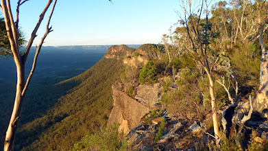 Photo: Wnaganderry Walls along north to Bonnum Pic which is the rocky point at the end