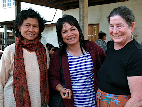 Photo: Ann and the leaders of women's silk co-op in small village outside Khorat