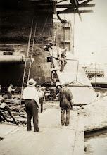 Photo: Osmund watching his men replace a rudder