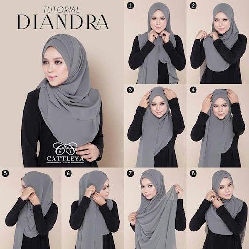 Tutorial Hijab Syar I Dengan Pashmina Jilbab Gucci