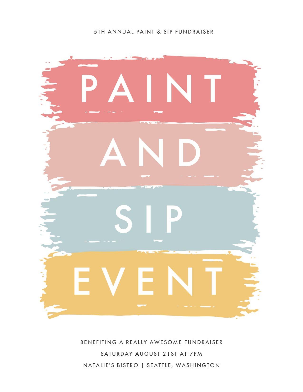 Paint & Sip Event - Flyer Template