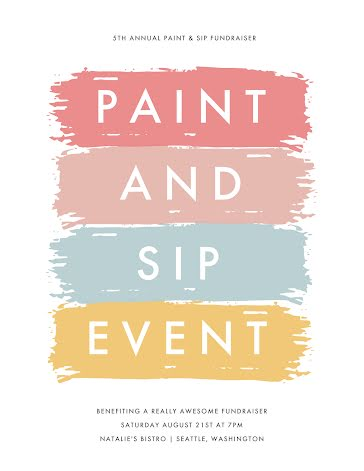 Paint & Sip Event - Flyer Template