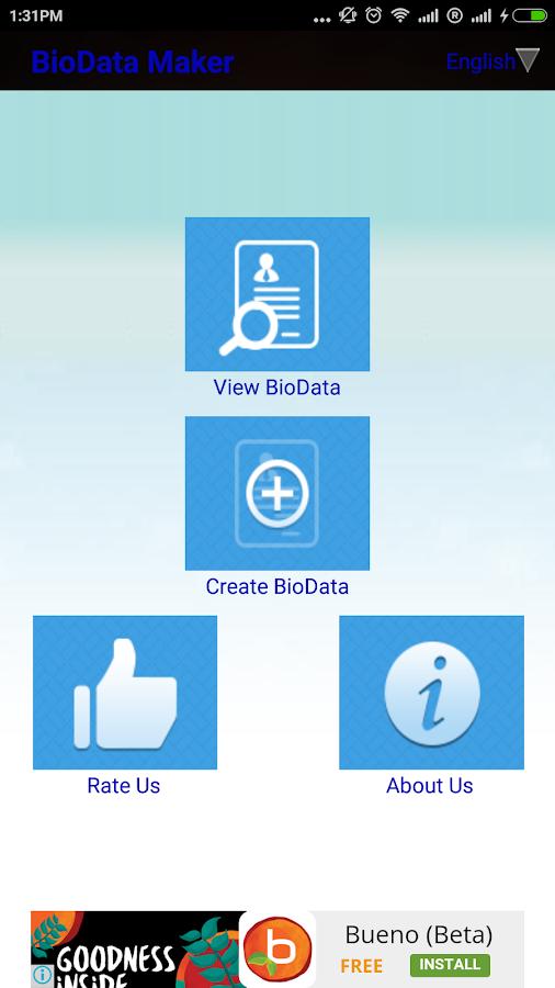 online biodata maker