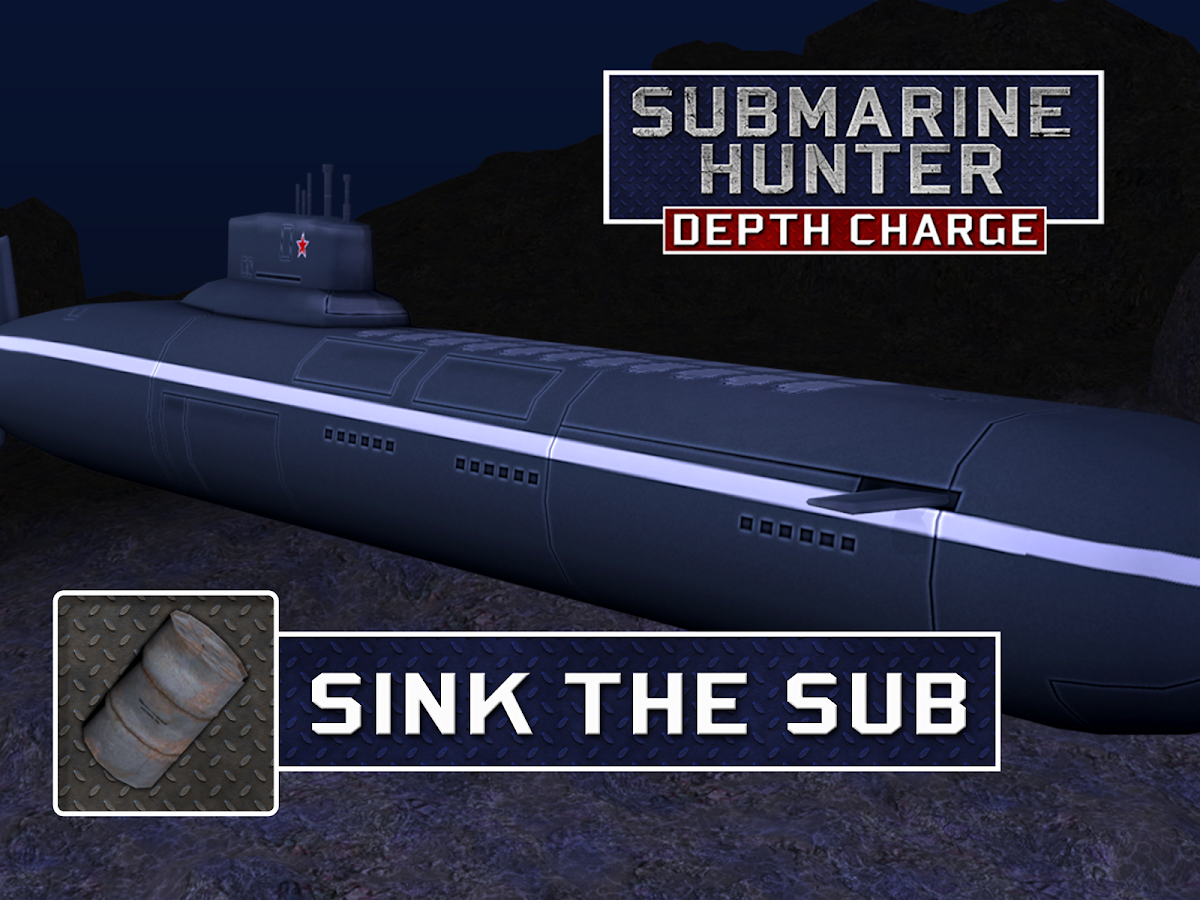 Submarine Hunter Depth Charge - Warship Fleet- screenshot
