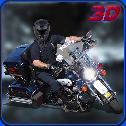 摩托车警察至尊3D大通 賽車遊戲 App LOGO-硬是要APP