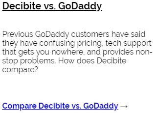 Decibite vs GoDaddy