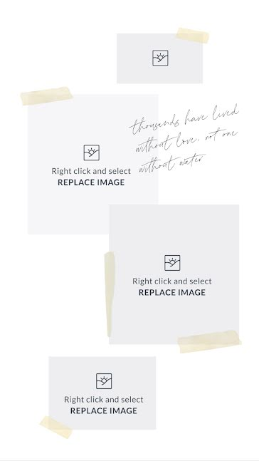 Paper Tape Inspiration - Mood Board Template