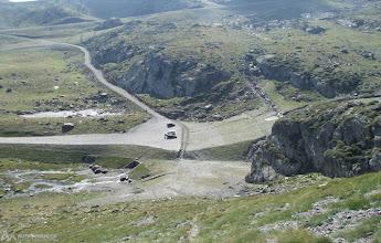 Photo: Vista del parking donde hemos dejado el coche y de las pistas de esquí de Ordino-Arcalís.