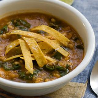 Kale, Barley, and Lentil Soup.