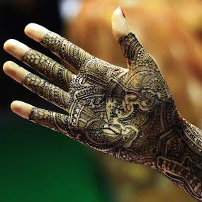 Mehandi by Dhruv Ashra - Abstract Fine Art ( mehandi, wedding, art, bride, ceremony )