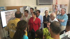 Carmen Crespo ha visitado el Puesto de Mando Avanzado.