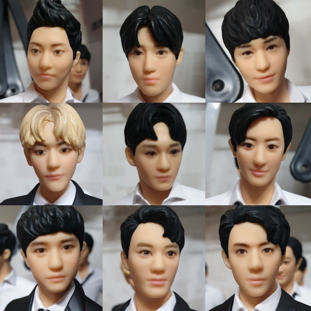 exo dolls close up