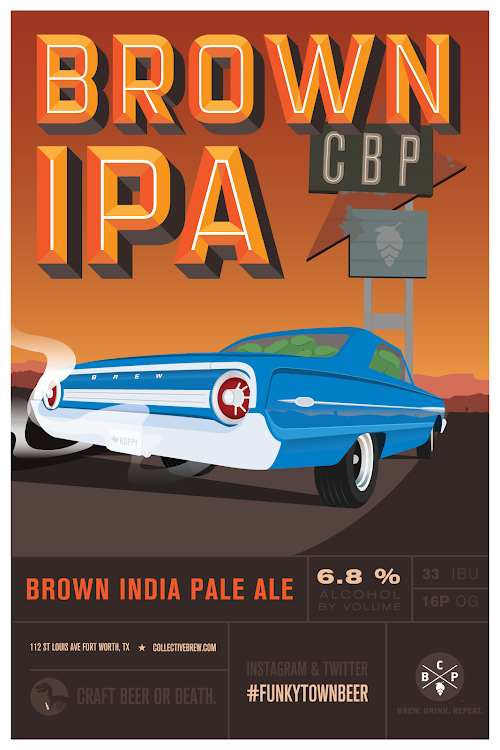 Logo of Collective Brewing Project Brown IPA On Wood