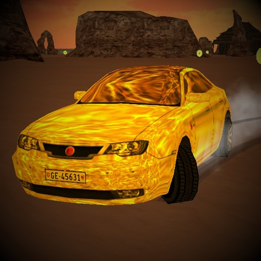Gold Car Desert