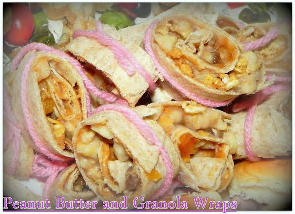 Peanut Butter And Granola Wraps