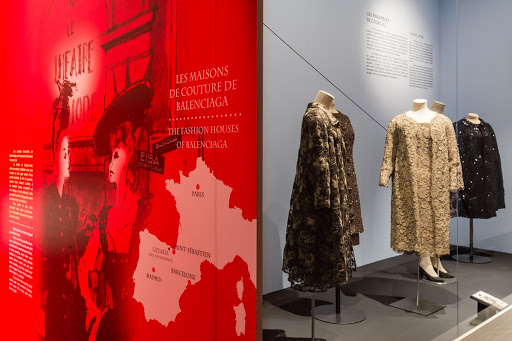 "Part of the temporary exhibition ""Balenciaga, the lace magician"""