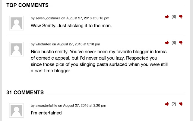Barstool Sports - Top Comments