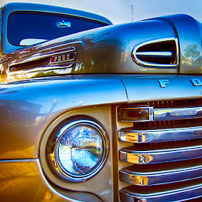 Restored by Christian Wicklein - Transportation Automobiles ( car, pickup, blue, truck, yellow, ford )