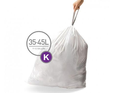 Avfallspåsar till Pedaltunna Typ K Simplehuman