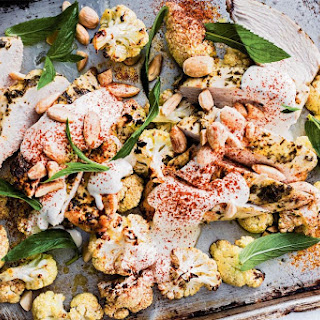 Roast Chicken With Cauliflower And Tahini