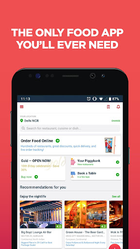 Zomato - Restaurant Finder and Food Delivery App 12.4.0 screenshots 1