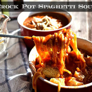 Crock Pot Spaghetti Soup with Leftovers.