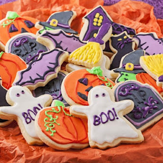 Halloween Cut-Out Cookies.