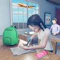 Virtual High School Girl Game- School Simulator 3D icon