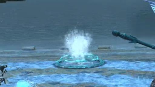 水の吹き出ている場所