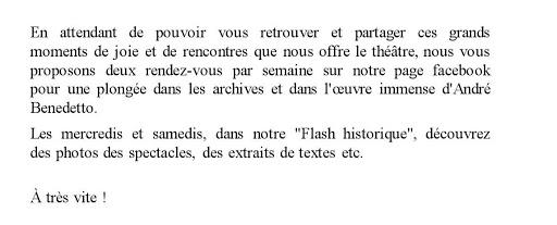 Mot flash historique
